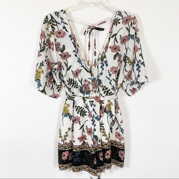 9ed6dd2bf Trixxi Pants   Floral Romper Size Xl   Poshmark